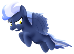 Size: 1500x1100 | Tagged: safe, artist:silberhase, rainbow dash, flying, possessed, solo, umbra pony