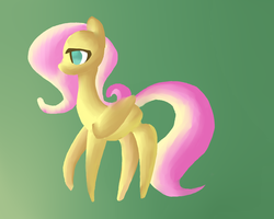 Size: 1024x819 | Tagged: safe, artist:annaiszoom, fluttershy, lineless, solo