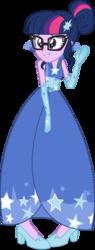 Size: 2500x6557 | Tagged: safe, artist:ambassad0r, sci-twi, twilight sparkle, equestria girls, clothes, dress, female, gala dress, simple background, solo, transparent background, vector