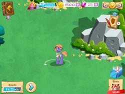 Size: 1024x768 | Tagged: safe, frazzle rock, game, gameloft, nerd pony