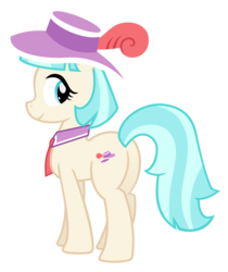 Size: 3556x4242 | Tagged: safe, artist:ispincharles, artist:slb94, coco pommel, butt, clothes, cute, female, hat, hatbutt, looking at you, plot, simple background, solo, transparent background, vector
