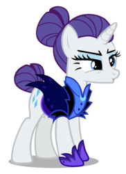 Size: 873x1200   Tagged: safe, artist:hendro107, rarity, the cutie re-mark, .psd available, alternate timeline, female, night maid rarity, nightmare takeover timeline, simple background, solo, transparent background, vector