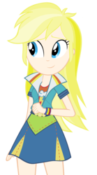 Size: 3600x6480 | Tagged: safe, edit, rainbow dash, equestria girls, friendship games, blonde, blondening, clothes, human coloration, natural hair color, realism edits, recolor, skirt, solo