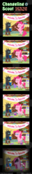 Size: 600x3263 | Tagged: safe, artist:vavacung, pinkie pie, changeling, comic:changeling-scout, comic, party, pin the tail on the pony, pinkamena diane pie, this will end in death, this will end in pain, this will end in pain and/or tears and/or death, this will end in tears, this will end in tears and/or death, uh oh