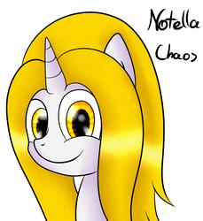 Size: 823x899 | Tagged: safe, artist:sojek, oc, oc only, oc:noti chaos, pony, unicorn, blonde, cute, female, mare, orange eyes, portrait