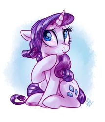 Size: 2496x2896 | Tagged: safe, artist:whitediamonds, rarity, pony, unicorn, :t, cute, female, floppy ears, mare, raribetes, scrunchy face, sitting, solo