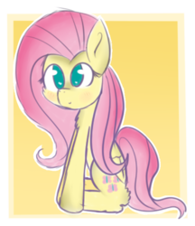 Size: 538x624 | Tagged: safe, artist:aimycat, fluttershy, solo