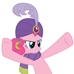 Size: 3000x3000 | Tagged: safe, artist:mahaugher, pinkie pie, gypsy pie, simple background, solo, transparent background, vector