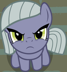 Size: 1014x1091 | Tagged: artist:badumsquish, badumsquish's kitties, cute, derpibooru exclusive, earth pony, female, frown, glare, grumpy, limabetes, limestone pie, limetsun pie, looking at you, looking up, part of a set, pony, safe, sitting, solo, tsundere