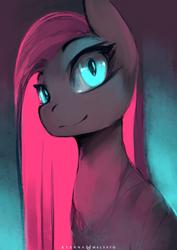 Size: 707x1000 | Tagged: safe, artist:foxinshadow, pinkie pie, earth pony, pony, female, glowing eyes, mare, pinkamena diane pie, smiling, solo
