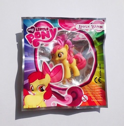 Size: 1007x1024 | Tagged: safe, apple bloom, figure, irl, magazine figure, photo, toy
