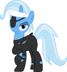Size: 909x969 | Tagged: artist:sparkblitz, female, future trixie, future twilight, looking at you, mare, pony, safe, simple background, solo, transparent background, trixie, unicorn
