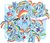 Size: 2650x2300   Tagged: safe, artist:ryuu, rainbow dash, tank, pegasus, pony, adorable face, adorkable, apple, backwards cutie mark, bathrobe, bedroom eyes, best pony, blushing, book, clothes, cloud, crying, cute, dashabetes, dashstorm, dork, dress, eating, eyes closed, facial expressions, female, flying, food, frown, gala dress, happy, hat, hnnng, looking at you, mare, multeity, party hat, prone, puffy cheeks, rainbow dash always dresses in style, rainbow dash day, reading, robe, sad, salute, sleeping, smiling, smirk, squishy cheeks, starry eyes, sunglasses, tank slippers, wall of tags, weapons-grade cute, wingding eyes, wonderbolts uniform