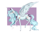 Size: 1280x1024 | Tagged: safe, artist:saoiirse, princess luna, female, raised hoof, s1 luna, solo, spread wings