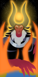 Size: 3000x6000 | Tagged: safe, artist:thishomeboy24, lord tirek, bad end, macro, magic, planet, solo