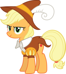 Size: 7447x8294 | Tagged: safe, artist:tim015, applejack, smart cookie, .ai available, absurd resolution, female, simple background, solo, transparent background, vector