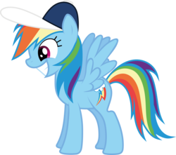 Size: 8268x7295 | Tagged: safe, artist:tim015, rainbow dash, .ai available, absurd resolution, backwards cutie mark, baseball cap, female, hat, simple background, solo, transparent background, vector, wingboner
