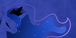 Size: 2000x1000 | Tagged: safe, artist:becauseimpink, princess luna, female, minimalist, solo