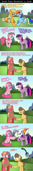 Size: 1200x6126   Tagged: safe, artist:skunkiss, applejack, big macintosh, caramel, pinkie pie, rainbow dash, twilight sparkle, :p, androphobia, anti-gay, appledash, bedroom eyes, caramac, comic, crying, double standard, explaining the fandom, eye contact, female, floppy ears, frown, gay, gay in front of girls, glare, grin, gritted teeth, holding hooves, homophobia, hypocrisy, kkk, lesbian, lesbian in front of boys, magic, male, misandry, pinkamena diane pie, pitchfork, pointing, sad, shipping, smiling, telekinesis, tongue out, torch, twinkie, we are going to hell, wide eyes