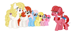 Size: 1500x666 | Tagged: artist:sarahostervig, baby it's cold outside, base used, g1, g1 to g4, galaxy (g1), generation leap, heart throb, lofty, paradise, safe, scene interpretation, surprise, twinkle eyed pony, whizzer, wind whistler
