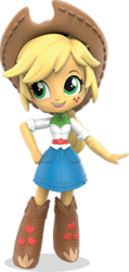 Size: 175x369 | Tagged: safe, applejack, equestria girls, clothes, doll, equestria girls minis, official, skirt, solo, toy