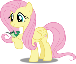 Size: 5915x5000 | Tagged: safe, artist:dashiesparkle, fluttershy, hummingway, hummingbird, absurd resolution, simple background, solo, transparent background, vector