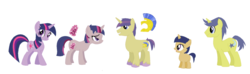 Size: 1024x304   Tagged: safe, artist:mllady56, comet tail, twilight sparkle, oc, cometlight, family, female, male, offspring, parent:comet tail, parent:twilight sparkle, parents:cometlight, shipping, straight