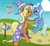 Size: 4000x3700 | Tagged: artist:sethisto, clothes, female, filly, filly trixie, hat, idw, like mother like daughter, mare, mother and daughter, pony, safe, spoiler:comic, spoiler:comic40, sunflower spectacle, trixie, unicorn, wizard, wizard hat, young, younger