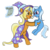 Size: 4000x4000 | Tagged: artist:sethisto, clothes, female, filly, filly trixie, hat, idw, like mother like daughter, mare, mother and daughter, pony, safe, spoiler:comic, spoiler:comic40, sunflower spectacle, trixie, unicorn, wizard, wizard hat, young, younger