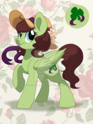Size: 600x803 | Tagged: safe, artist:itstaylor-made, oc, oc only, oc:shamrock heart, solo