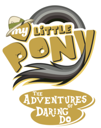 Size: 1566x1982 | Tagged: safe, artist:jamescorck, edit, daring do, adventure, hat, logo, logo edit, my little pony logo, parody, pith helmet, simple background, text, transparent background, vector