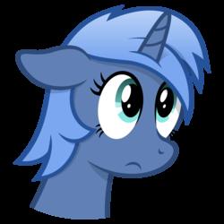 Size: 4096x4096 | Tagged: safe, artist:djdavid98, oc, oc only, oc:paamayim nekudotayim, pony, unicorn, absurd resolution, cel shading, floppy ears, sad, simple background, solo, transparent background, vector
