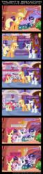 Size: 2000x8059   Tagged: safe, artist:daringdashie, apple bloom, applejack, rarity, sweetie belle, twilight sparkle, comic, scootaloo's new pet