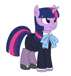 Size: 673x720   Tagged: safe, artist:carnifex, twilight sparkle, clothes, cute, female, pantyhose, shoes, skirt, skirt suit, solo