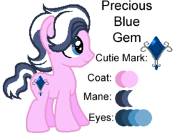 Size: 316x250 | Tagged: safe, artist:kiananuva12, oc, oc only, earth pony, pony, cutie mark, next generation, offspring, parent:diamond tiara, parent:shady daze, reference sheet, simple background, solo, transparent background