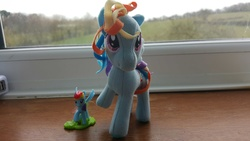 Size: 5312x2988 | Tagged: cute, don't talk to me or my son ever again, funrise, irl, kinder egg, photo, plushie, pony, rainbow dash, safe