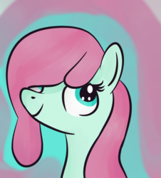 Size: 754x835 | Tagged: artist:berrypunchrules, bubblegum brush, filly, safe, solo