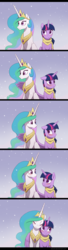 Size: 800x2953 | Tagged: safe, artist:akeahi, princess celestia, twilight sparkle, alicorn, pony, blushing, clothes, comic, cute, cutelestia, daaaaaaaaaaaw, female, hug, lesbian, mare, scarf, shipping, snow, snowfall, twiabetes, twilestia, twilight sparkle (alicorn), winghug