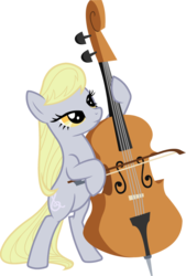 Size: 734x1088 | Tagged: artist:blah23z, bass, bipedal, derpy hooves, edit, fusion, hoof hold, octavia melody, palette swap, pony, recolor, safe, simple background, solo, tavified, transparent background, vector