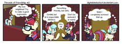 Size: 1200x434 | Tagged: safe, artist:digitaldasherbot, coco pommel, moondancer, comic:threads of friendship, awkward, comic