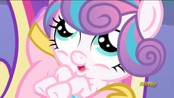 Size: 1920x1080 | Tagged: safe, screencap, princess cadance, princess flurry heart, the crystalling, discovery family logo
