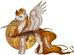 Size: 1279x961 | Tagged: safe, artist:wolfartiststudio, oc, oc only, oc:golden rain, pegasus, pony, ak-47, epic, gun, solo, standing, weapon