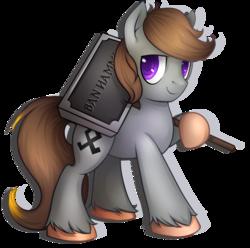 Size: 1630x1616   Tagged: safe, artist:pingwinowa, oc, oc only, oc:luxor, earth pony, pony, banhammer, futhark, o, othala, runes, simple background, transparent background, unshorn fetlocks