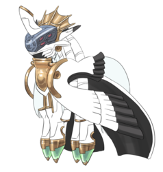 Size: 1024x1075 | Tagged: safe, artist:carnifex, oc, oc only, changeling, ar tonelico, armor, shurelia