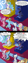 Size: 1500x3376 | Tagged: safe, artist:brisineo, applejack, fluttershy, pinkie pie, princess celestia, princess luna, rainbow dash, rarity, twilight sparkle, 4chan, 4chan cup, 4chan cup scarf, alcohol, angry, cider, clothes, comic, eyes closed, faint, foam finger, food, implied princess twilight, implied twilight sparkle, jersey, nail biting, open mouth, popcorn, scarf, smiling, sports, spread wings, swirly eyes, talking, vein bulge