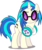 Size: 4203x5000 | Tagged: safe, artist:dashiesparkle, dj pon-3, vinyl scratch, pony, unicorn, slice of life (episode), .svg available, absurd resolution, cutie mark, female, headphones, hooves, horn, mare, raised eyebrow, simple background, solo, sunglasses, transparent background, vector