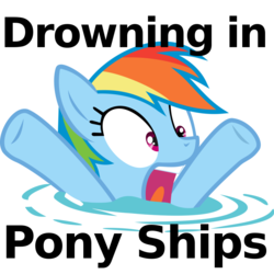 Size: 900x900 | Tagged: safe, artist:cyberpon3, drowning, drowning in pony ships, funny