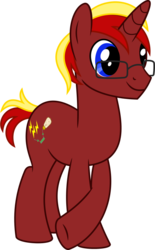 Size: 592x953 | Tagged: artist:gingerscribbs, inkscape, oc, oc:circuit breaker, oc only, pony, ponyscape, safe, simple background, solo, transparent background, unicorn, vector