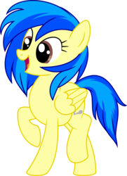 Size: 675x933 | Tagged: artist:gingerscribbs, cutie mark, female, happy, inkscape, oc, oc only, oc:silvia, open mouth, pegasus, pony, ponyscape, safe, simple background, solo, transparent background, updated, vector