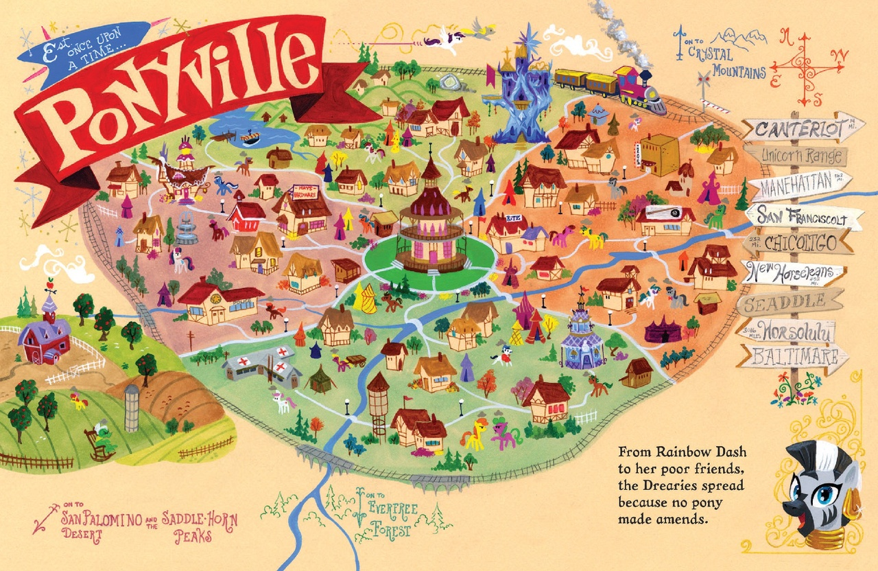 Map Of Ponyville 1130914   8 ball, apple bloom, artist:andypriceart, baltimare, bon